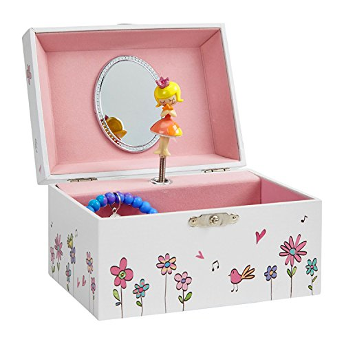 Spinning Mirrors Bird Toy - JewelKeeper Girl's Musical Jewelry Storage Box with Spinning Princess,Birds and Flower Design, Dance of the Sugar Plum Fairy Tune