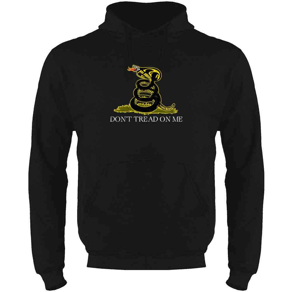 Cobra Kai Dojo Dont Tread On Me Logo Martial Arts Mens Fleece Hoodie Sweatshirt