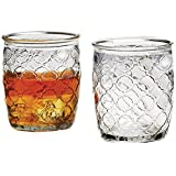 Circleware Garden Gate Clear DOF Drinking Glasses Set, 14 Ounce, Set of 4, Limited Edition Glassware Drinkware Barware Drink Cups
