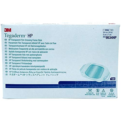 3m Tegaderm Hp Transparent Dressing 2.375 x 2.75 in./ 6 x 7 cm/Box of 100 3m Tegaderm Hp Transparent Dressing