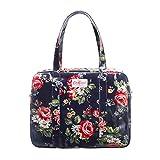 Cath Kidston Oilcloth Large Zip Bag Shoulder Tote Kentish Rose Navy