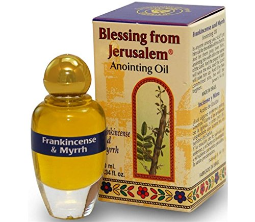 Anointing Feet Jesus - Ein Gedi Frankincense and Myrrh Anointing Oil with Biblical Spices (10ml)
