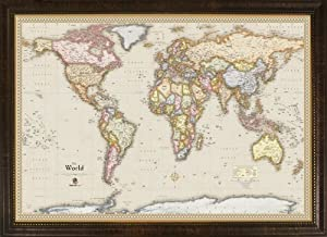 Magnetic world maps afp cv homemagnetics mm3624wld magnetic travel map of the world magnets included 39 by 27 inch gumiabroncs Images