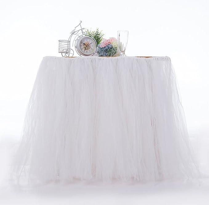Faldón de Fluffy Cumpleaños mesa de fiesta vestido boda ...