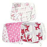 ARNZION Burp Cloths Wipes for Girls Large