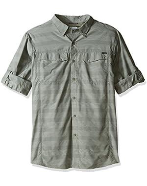 Men's Big-Tall Silver Ridge Plaid Long Sleeve Shirt, Cypress Stripe, Large