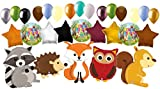 29pc Woodland Creatures Happy Birthday Animals Balloon Bouquet Party Decoration