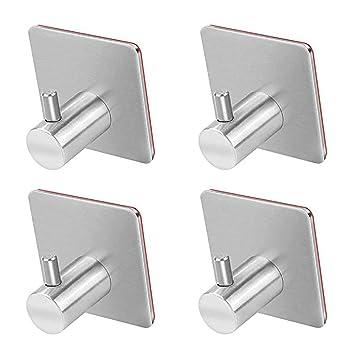Toallas Cuarto de ba/ño o Dormitorio 2 Unidades Ganchos para Colgar en Forma de Z de Acero Inoxidable para Colgar Abrigos Puertas Ganchos Reversibles para Cocina Wimagic