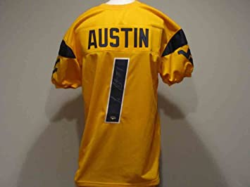 ... football 1 tavon austin 12 oliver discount tavon austin autographed  signed west virginia mountaineers yellow jersey e27b7 0ca7c ... 2a014de85