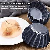 Amytalk 12 Packs Egg Tart Mold, Upgrade Bigger Size 3 x 0.9inch, Cupcake Cake Muffin Mold Tin Pan Baking Tool, Carbon Steel
