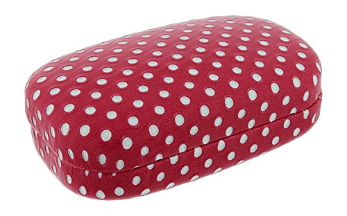 Hard Mod Pink And White Polka Dot With Interior Mirror Contact Lens Travel Case (Hard Case Contact)