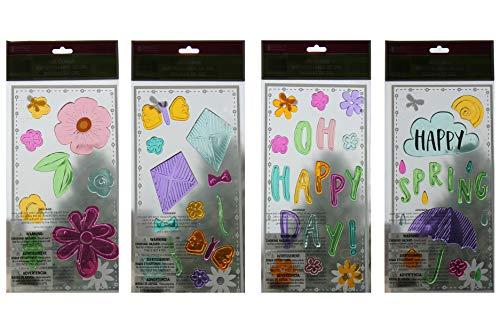 Impact Happy Spring Gel Window Clings, Pack of 4]()