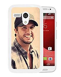 For Moto G,Luke Bryan White Case Cover For Moto G