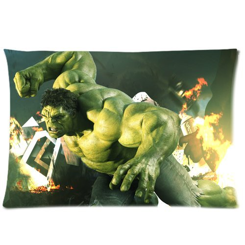Every New Day Superhero Series Hulk Unique Custom Zippered Pillow Cases 20x30 inches(50x76cm) (Two (Custom Hulk Costumes)