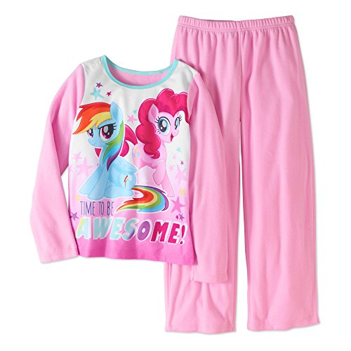 (Girls My Little Pony Movie Fleece Pajamas (Medium 7/8,)
