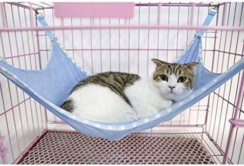 MARCU Home Estera para Cama de Gato para ventilación de Verano Tela de Red Jaulas para Mascotas Hamaca Debajo de la Silla Azul S para Gato/Perro