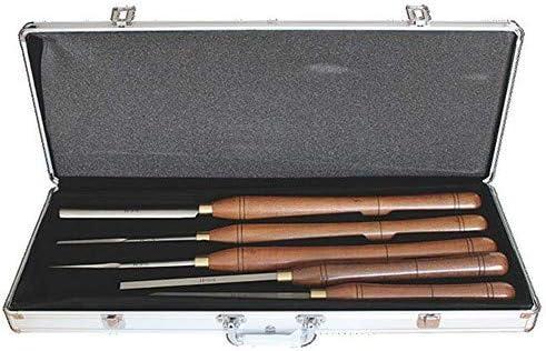 Caja de 5 herramientas de torno HSS para torno de madera: Amazon.es: Bricolaje y herramientas