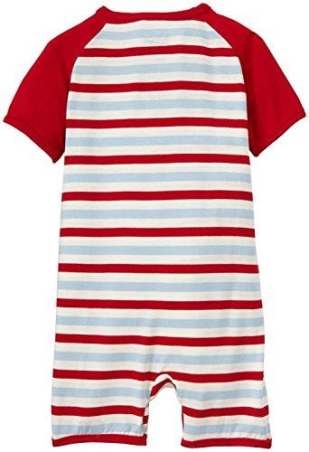 Kickee Pants Print Raglan Romper (Baby) - Balloon Stripe-0-3 Months