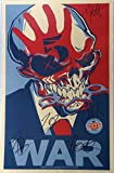 #3: Signed Five Finger Death Punch Autographed War Poster Full Band