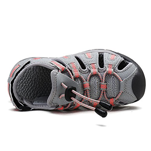 DREAM PAIRS Big Kid 160912-K LT.Grey Coral Outdoor Summer Sandals Size 6 M US Big Kid by DREAM PAIRS (Image #2)