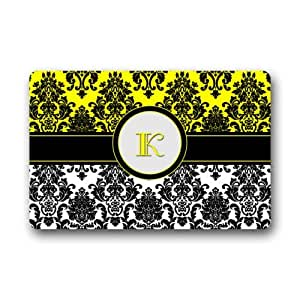 Special Offer Brand New Floor Mat Customized Floral Damask Doormat