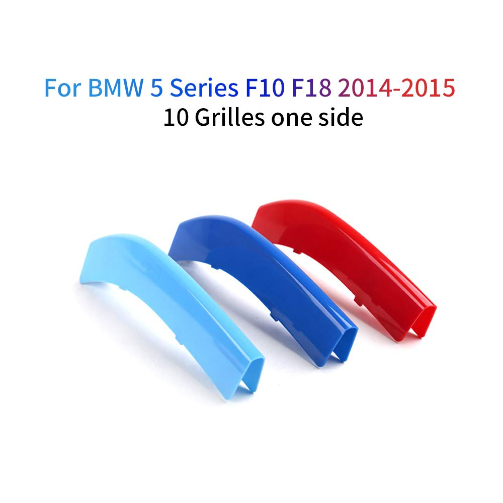 9 Grilles For BMW 5 Series G30 G31 G38 530i 540i 520d 530d 2007-2018 M Color Front Grille Grill Cover Insert Trim Clips 3Pcs