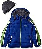 London Fog Little Boys' Active Heavyweight Jacket with Ski Cap, Real Blue, 5/6