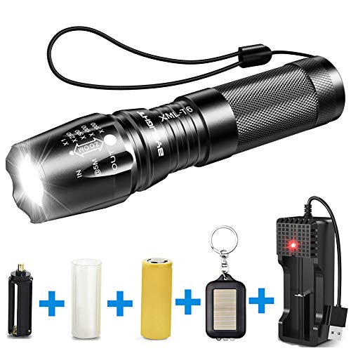 Power Outage Dog Walking 5 Light Modes LED Bright Torch Rechargeable Torch Adjustable Focus Flashlight for Camping