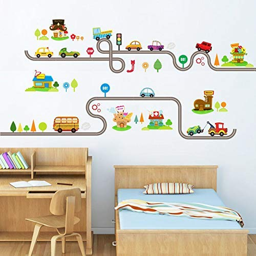 2017 Cartoon Cars Wall Decal Removable Hollow Out