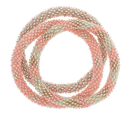 Aid Through Trade Roll-On Bracelets - Pink Lemonade
