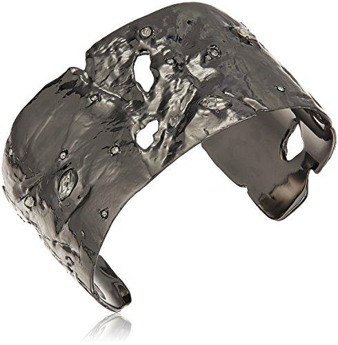 Alexis Bittar Cuff Bracelet - Alexis Bittar Fall 2017 Textured with Crystal Accent Cuff Bracelet