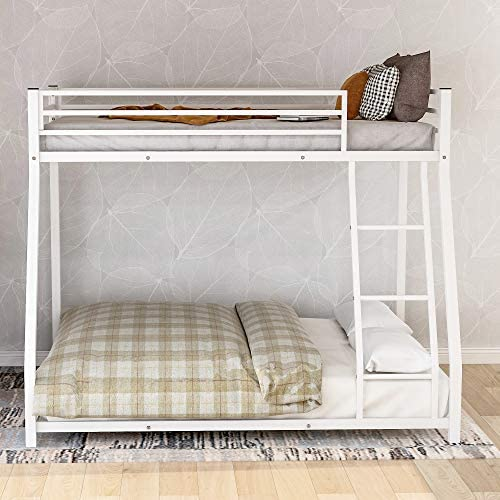 Harper Bright Designs Twin Over Full Metal Floor Bunk Bed