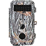 BlazeVideo 16MP Gaming Trail Cam No Glow Flash 40pcs IR LEDs Waterproof Wildlife Hunting Camera Night Vision 0.6s Trigger 2.36 LCD, Deer Beer Animals Surveillance for Yard, Stand by Up to 6 Months