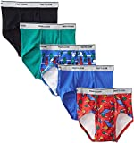 Fruit of the Loom Boys 5Pack Assorted 100% Cotton Briefs Kids Underwear S