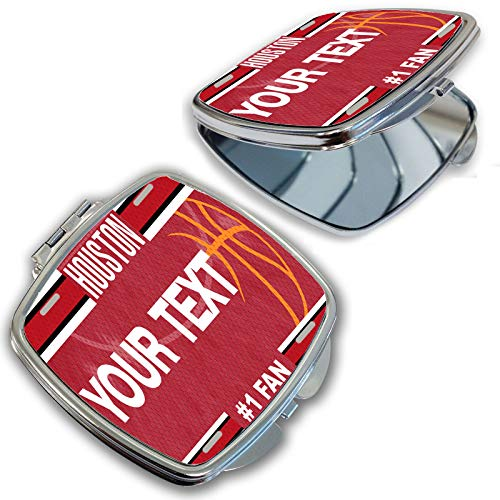 BRGiftShop Customize Your Own Basketball Team Houston Compact Pocket Cosmetic -