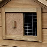 """PawHut 59"""" Chicken Coop Wooden Hen House Rabbit"""