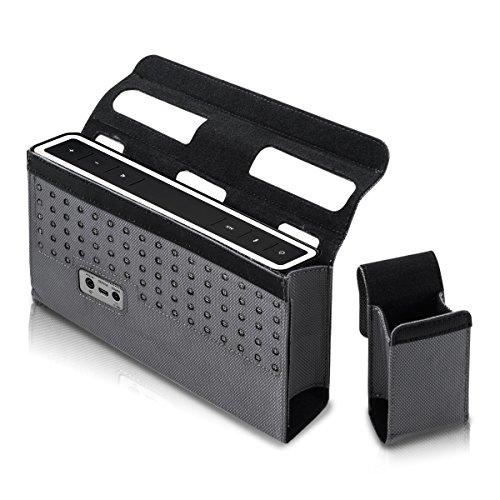 kwmobile Schutz Tasche für Bose SoundLink 3 III Bluetooth Speaker in Schwarz aus Nylon - inklusive Tasche für Zubehör