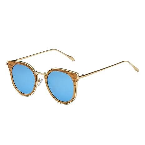 YANKAN Gafas de Sol para Hombres y Mujeres-Bambú Puro Hecho ...