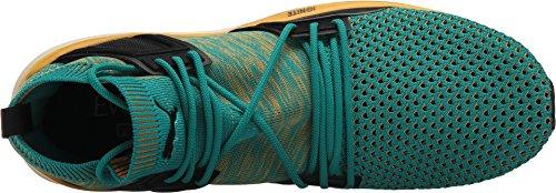 PUMA Select Herren Blaze of Glory Limitless High evoKNIT Sneaker Navigiere / Artisans Gold / Whisper White