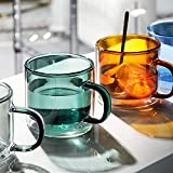 Clear&Colorful Double Walled Glass Coffee