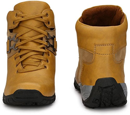 T-Rock Men's Synthetic Leather Black Shoes