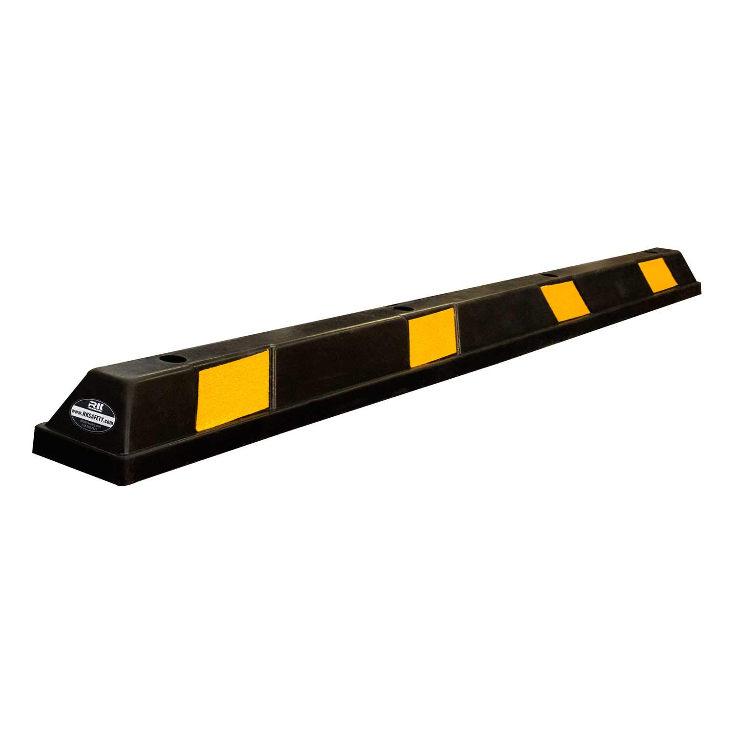 RK-BP72 Heavy Duty Rubber Parking Curb, Parking Block, 72 -Inch for Car, Truck, RV and Trailer Stop Aid