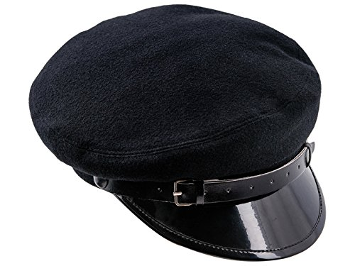 - Sterkowski Wool Cloth Peaked Breton Style Maciejowka Cap US 7 1/4 Black