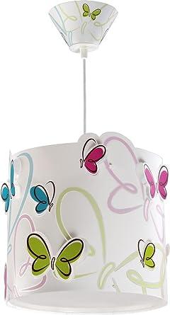 LED warmweiß 1050lm Kinderzimmer-Lampe Schmetterling Hänge-Lampe 62142  Butterfly bunt Mädchen