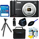 Sony Cyber-shot DSC-W800 Digital Camera (Black) + 32GB Pixi-Basic I3ePro Accessory Bundle