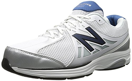 New Balance Men's MW847V2 Walking Shoe, White/navy, 43 D(M)