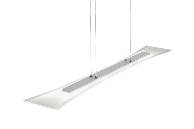 Plafoniere Led Per Taverna : Trio  plafoniera led in alluminio spazzolato vetro