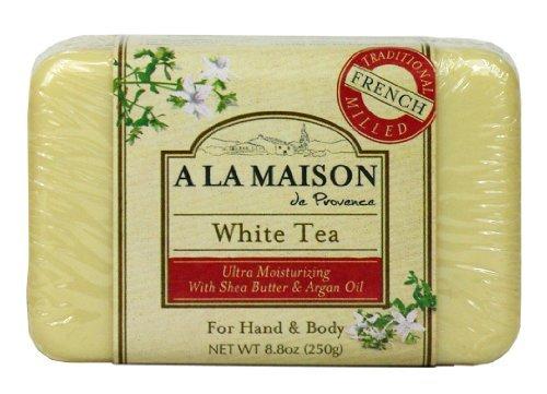 8.8 Ounce Soap (A La Maison Solid Bar Soap, White Tea, 8.8 Ounce by A La Maison)