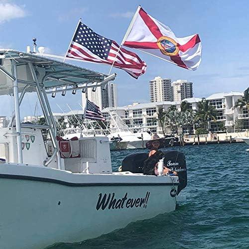 South Wind Designs - Bandera de Barco y Bandera Estadounidense, Combo de 3 pies: Amazon.es: Jardín