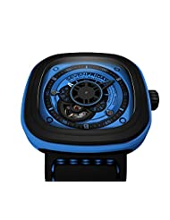 Sevenfriday Industrial Essence Blue Dial Automatic Mens Watch P1-4